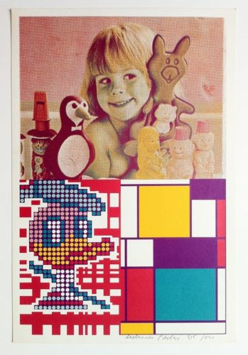 Donald Duck Meets Mondrian by Eduardo Paolozzi