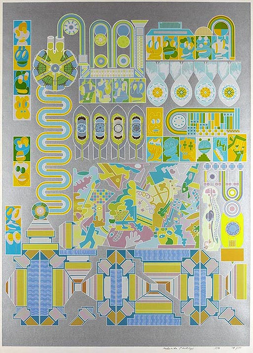 Who's Afraid Of Sugar Pink And Lime Green by Eduardo Paolozzi
