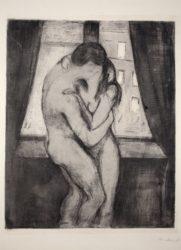 Der Kuss by Edvard Munch at
