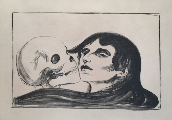 Todeskuss (the Kiss Of Death) by Edvard Munch at