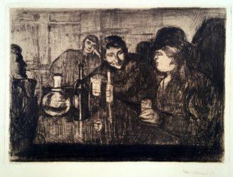 Kristiania Boheme I by Edvard Munch at