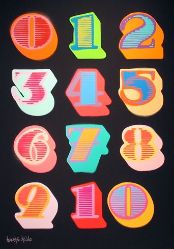 Black Shutterfont Numbers by Eine at