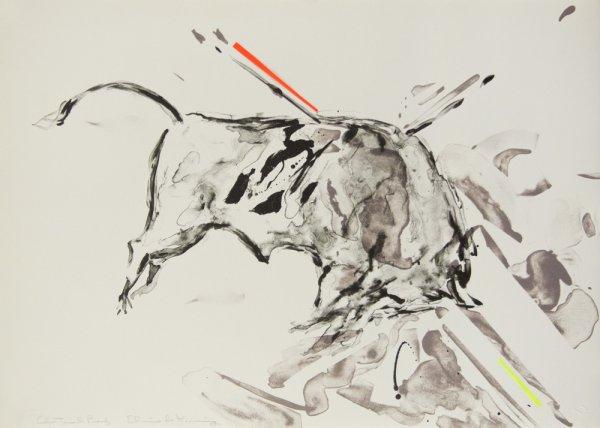 Taurus Ix (color Trial Proof #1) by Elaine De Kooning