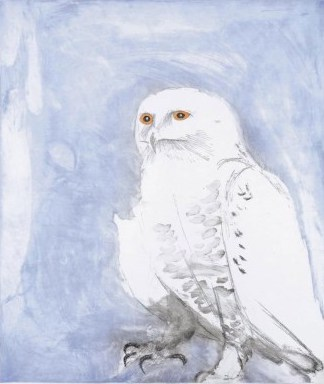 Snowy Owl by Elisabeth Frink at