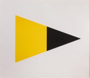 Black/yellow by Ellsworth Kelly at Susan Sheehan Gallery