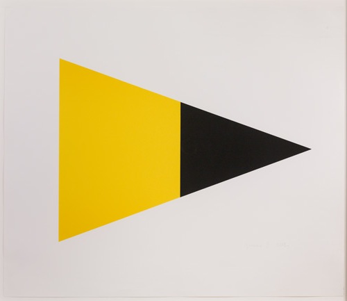 Black/yellow by Ellsworth Kelly at Susan Sheehan Gallery (IFPDA)