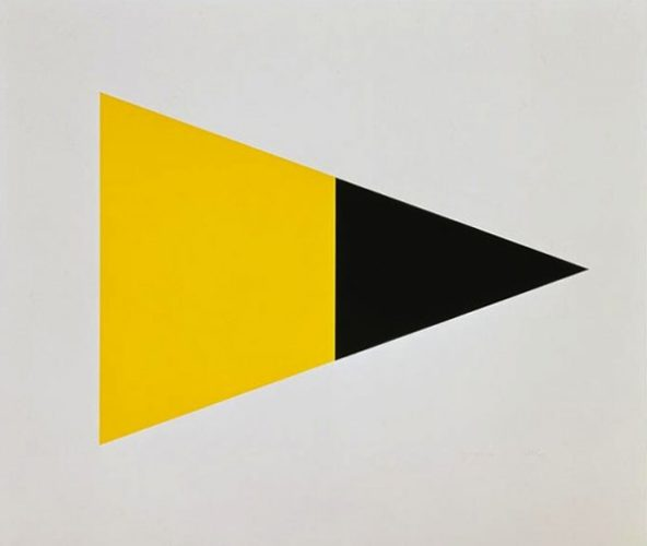 Black Yellow by Ellsworth Kelly