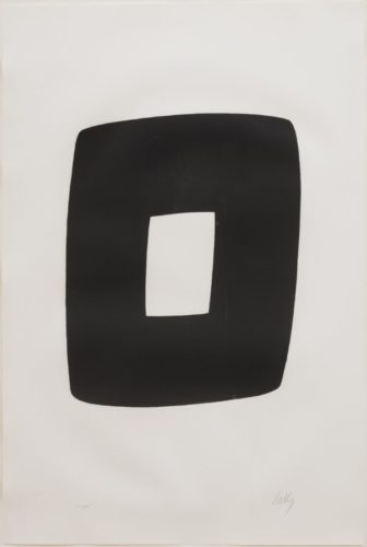 Black With White by Ellsworth Kelly
