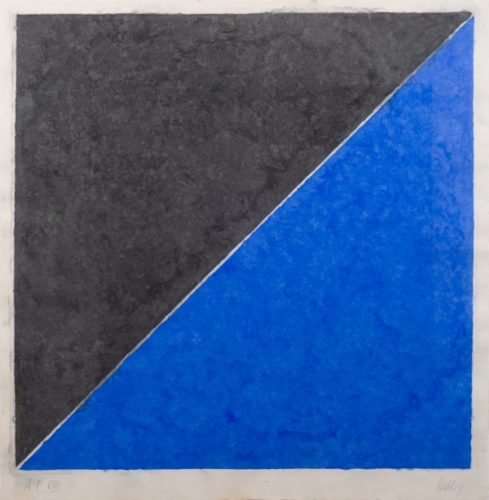 Colored Paper Image Xv (dark Gray With Blue) by Ellsworth Kelly