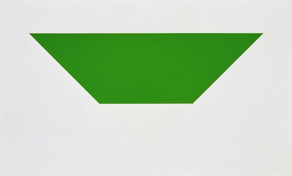 Green/white by Ellsworth Kelly at Susan Sheehan Gallery (IFPDA)