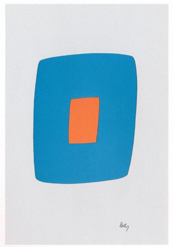 Light Blue With Orange by Ellsworth Kelly