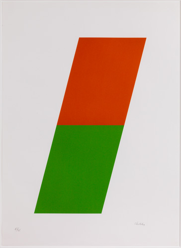 Orange/green by Ellsworth Kelly at Susan Sheehan Gallery (IFPDA)