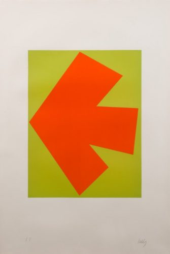 Orange Over Green by Ellsworth Kelly