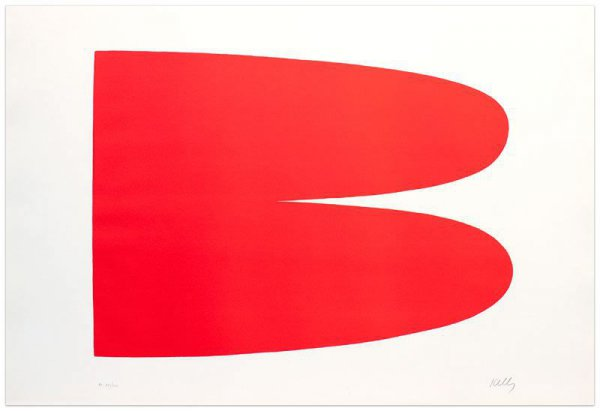 Red-orange (rouge-orange) by Ellsworth Kelly
