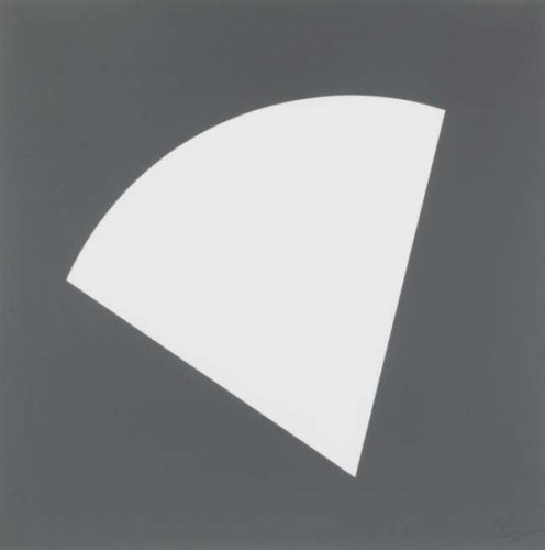 Untitled (grey, 1998) by Ellsworth Kelly
