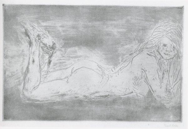 Akt Mit Wippenden Beinen by Emil Nolde