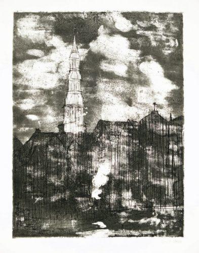 Hamburg, Katharinenkirche by Emil Nolde at Galerie Henze & Ketterer & Triebold