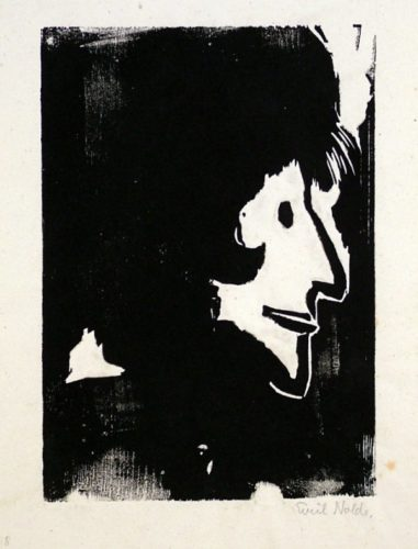 Profile Of A Woman by Emil Nolde