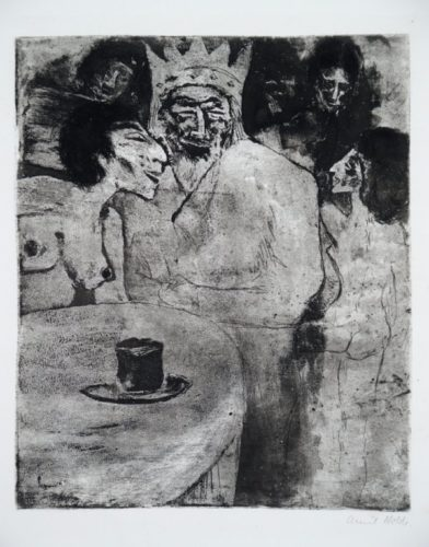 Salomo Und Seine Frauen by Emil Nolde