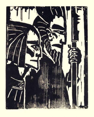 Ziehende Krieger by Emil Nolde