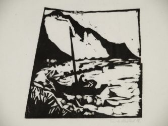 Boot Am Ufer by Erich Heckel at Galerie Henze & Ketterer & Triebold