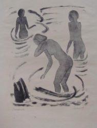 Badende Madchen by Erich Heckel at