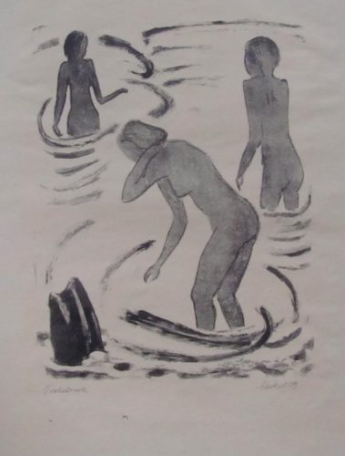 Badende Madchen by Erich Heckel at