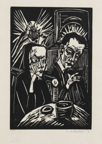 Beim Vorlesen (Reading aloud) by Erich Heckel at