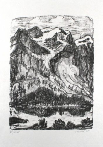 Berghang Am See by Erich Heckel at Sylvan Cole Gallery