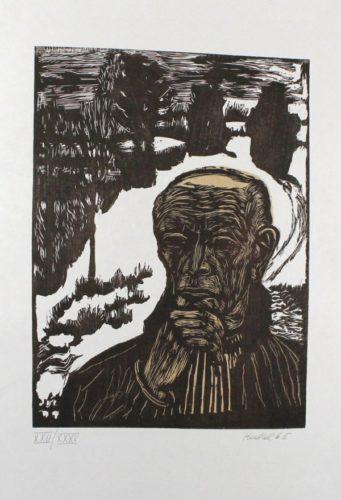 Bildnis by Erich Heckel at Sylvan Cole Gallery