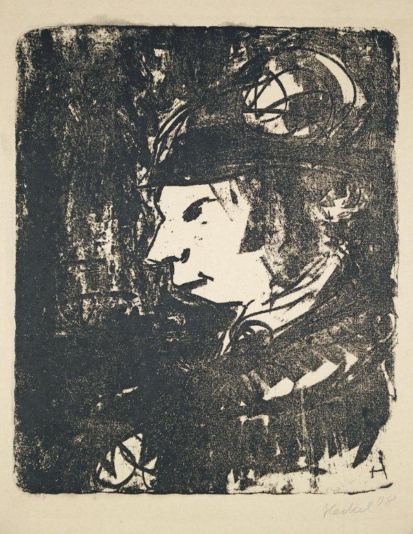 Frau Auf Der Strasse by Erich Heckel