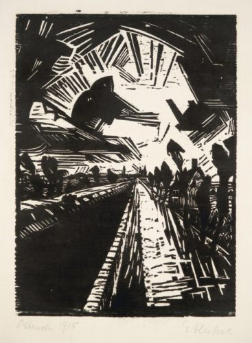 Gerader Kanal by Erich Heckel at