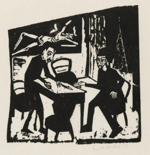 Gegner (Adversaries) by Erich Heckel at Erich Heckel