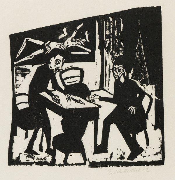 Gegner (Adversaries) by Erich Heckel
