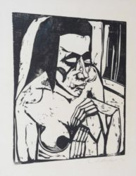 Hockende (Crouching Woman) by Erich Heckel at