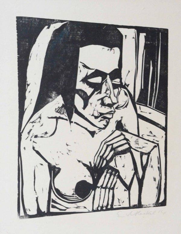 Hockende (Crouching Woman) by Erich Heckel