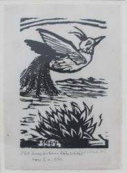 Jahresblatt: Auffliegender Vogel by Erich Heckel at