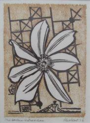 Jahresblatt: Clematisblute by Erich Heckel at