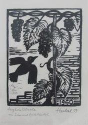 Jahresblatt: Vogel Und Trauben by Erich Heckel at