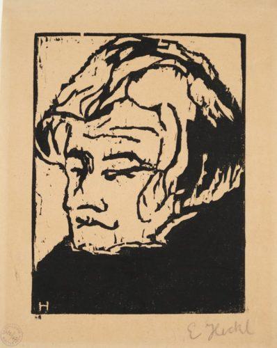 Kopf Des Geigers by Erich Heckel at Galerie Henze & Ketterer & Triebold