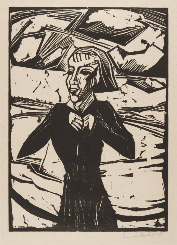 Madchen Am Meer (Girl beside the Sea) by Erich Heckel