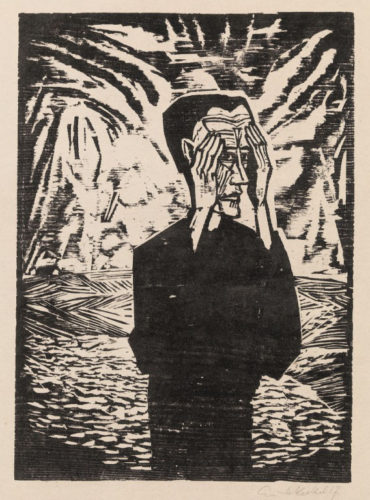 Mann in der Ebene (Man on the Plain, Self Portrait by Erich Heckel at