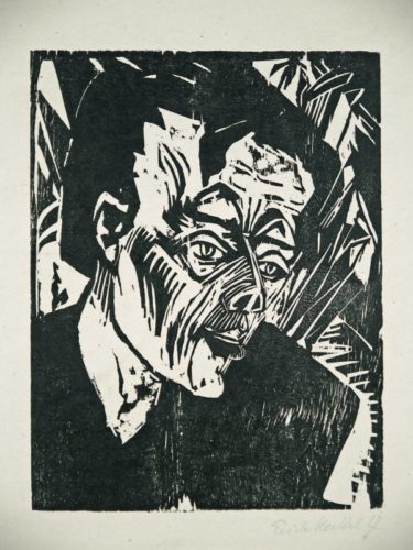 Roquairol (bildnis Ernst Ludwig Kirchner) by Erich Heckel at