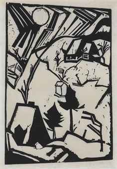 Schneetreiben (driving Snow) by Erich Heckel at