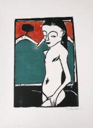 Stehendes Kind (Standing Child) by Erich Heckel at