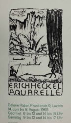 Untitled (exhibition Poster) by Erich Heckel at