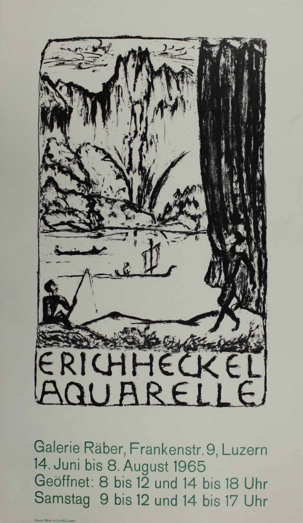 Untitled (exhibition Poster) by Erich Heckel