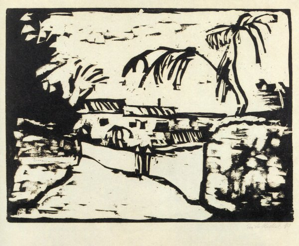 Weg Bei Rom (path By Rome) by Erich Heckel at Alice Adam Ltd.