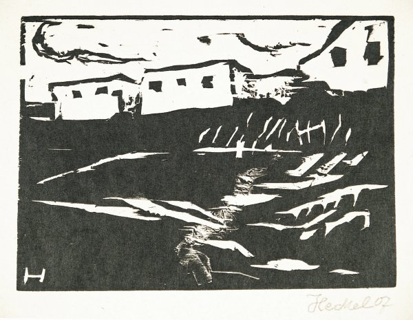 Weisse Häuser by Erich Heckel