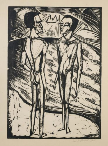 Zwei Männer Am Meer (Two Men beside the Sea) by Erich Heckel at Simon Theobald Ltd